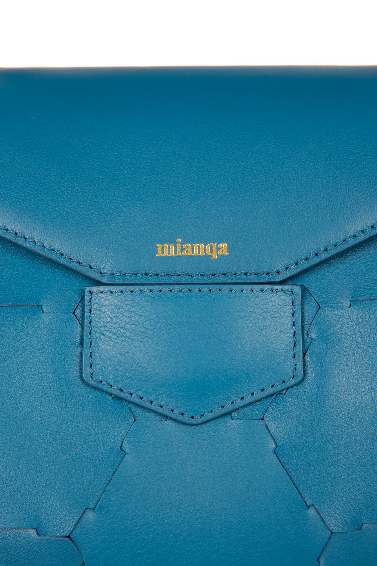 A F E T | Leather Tote Bag Blue