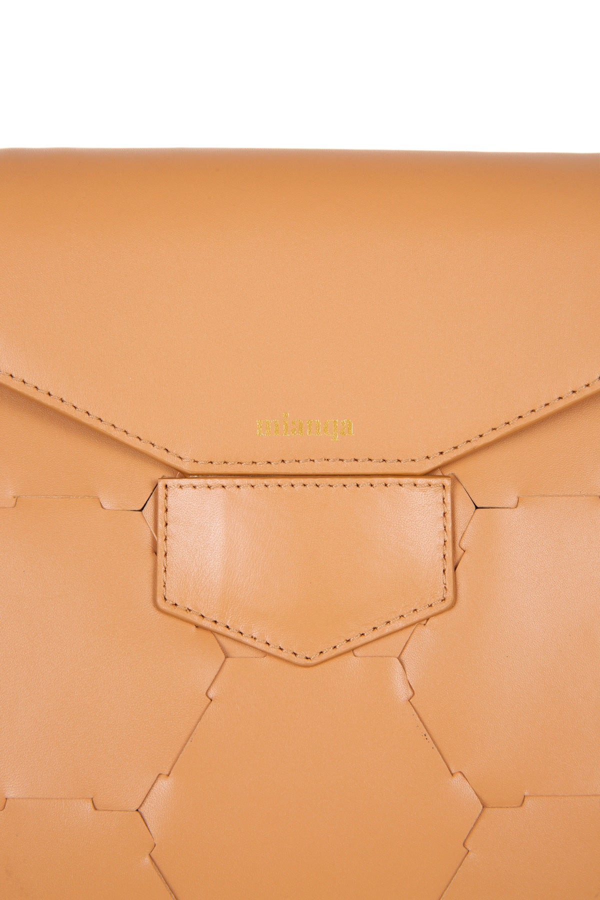 A F E T | Leather Tote Bag Camel