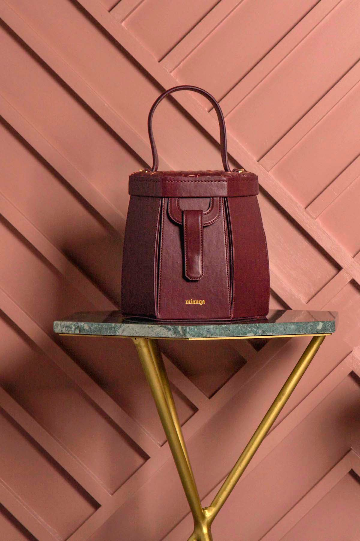 E L I F | Hexagon Bag Bordeaux