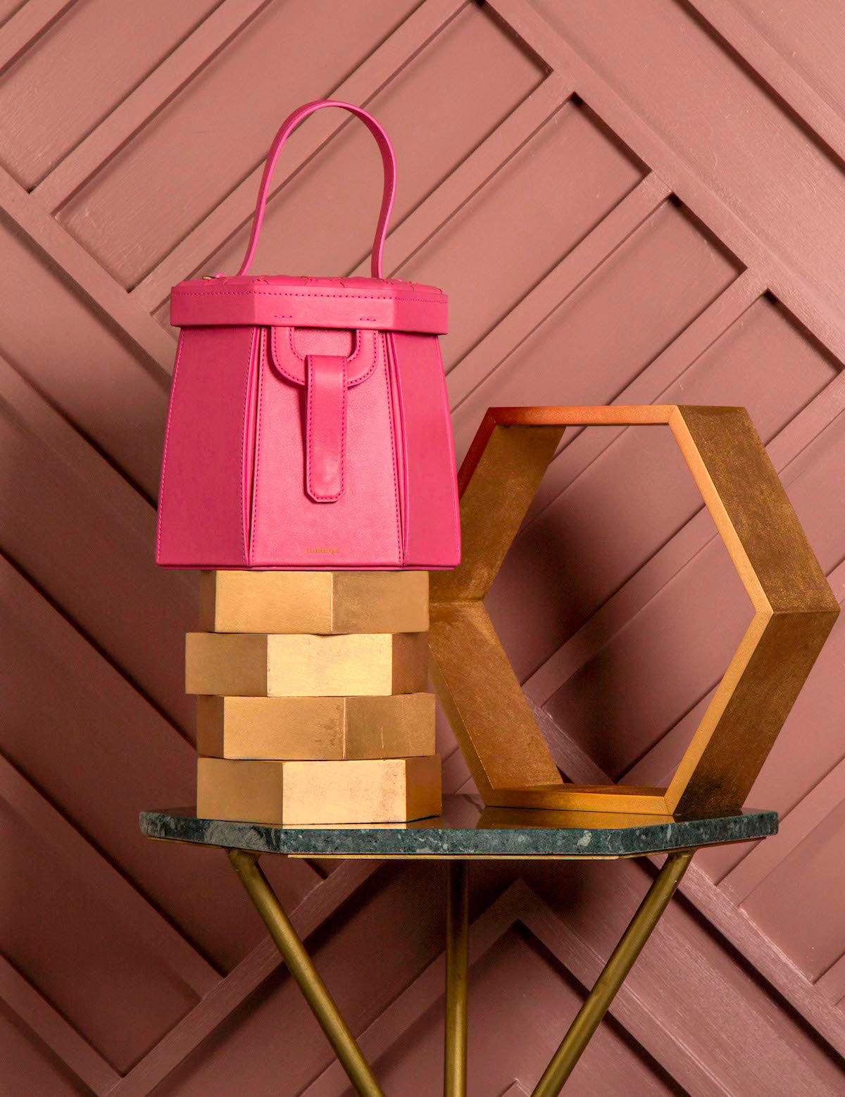 E L I F | Hexagon Bag Pink