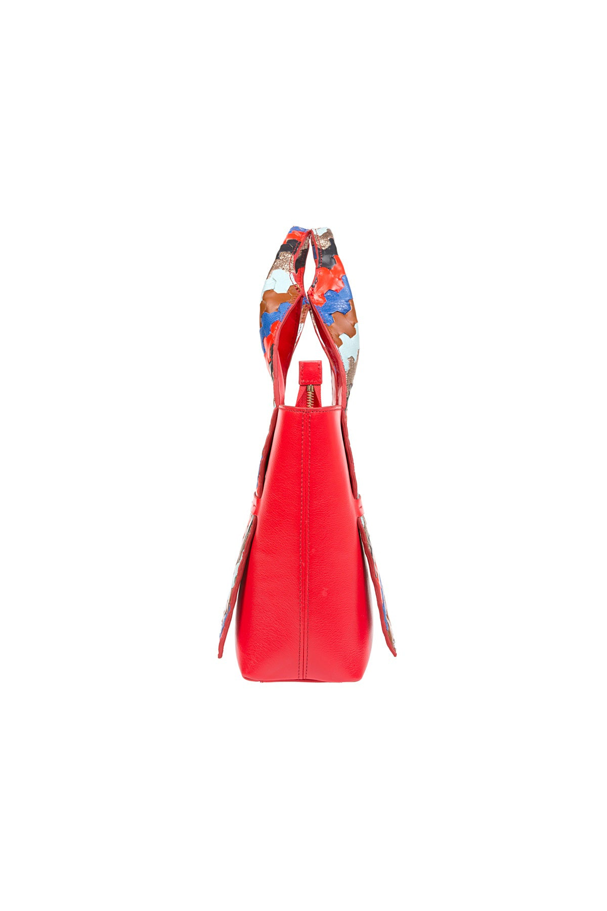 A D I L E | Leather Tote Bag Red