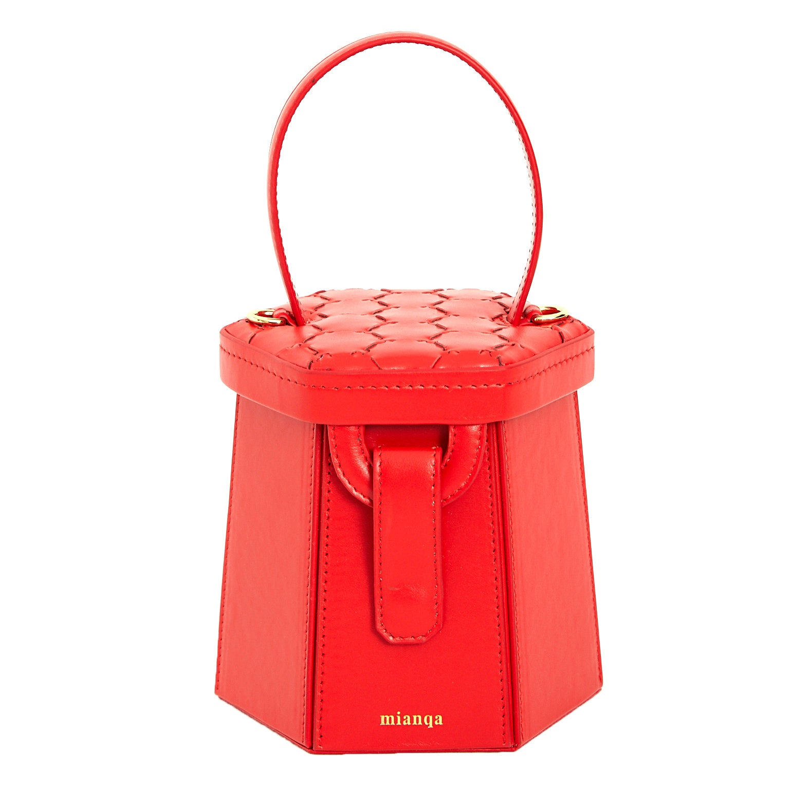 Mini E L I F | Hexagon Bag Red