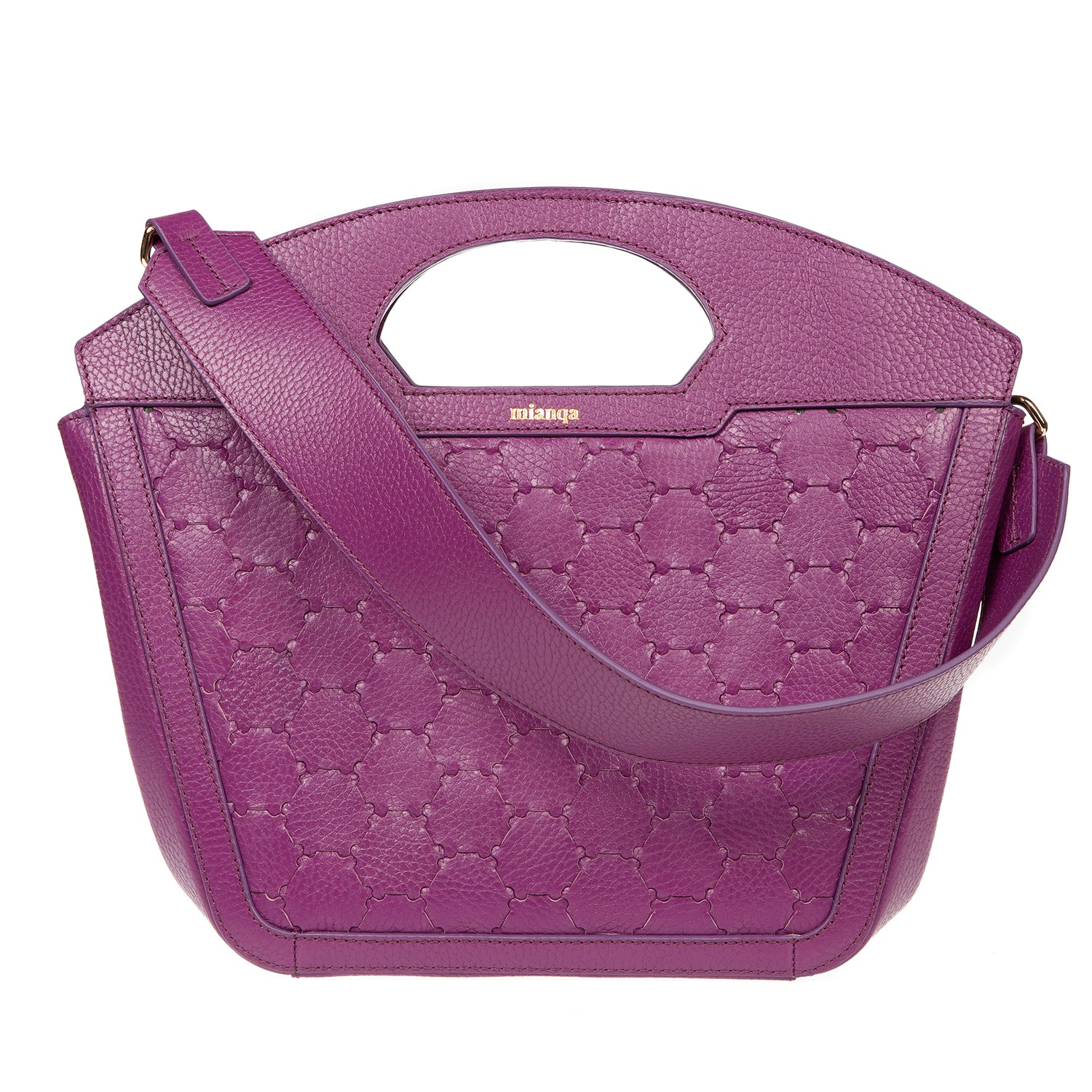 A F I F E | Leather Tote Bag Purple
