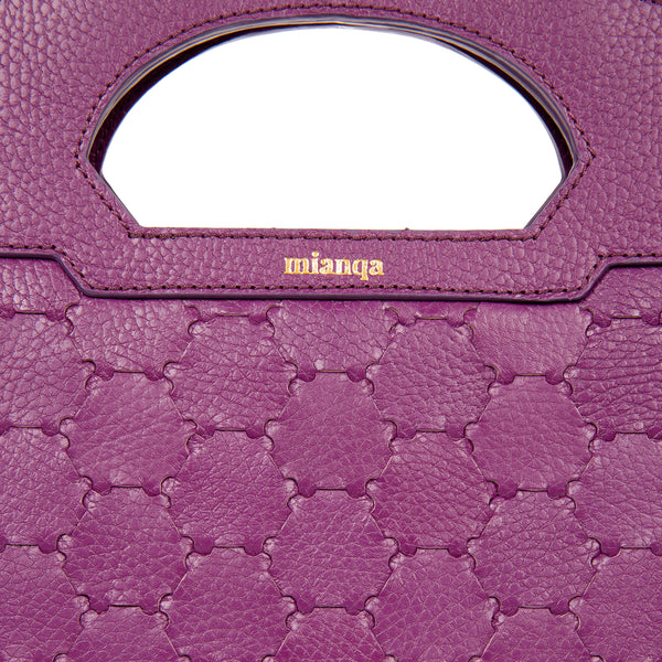 NEW A F I F E | Leather Tote Bag Purple