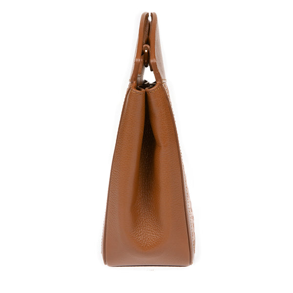 NEW A F I F E | Leather Tote Bag Tan