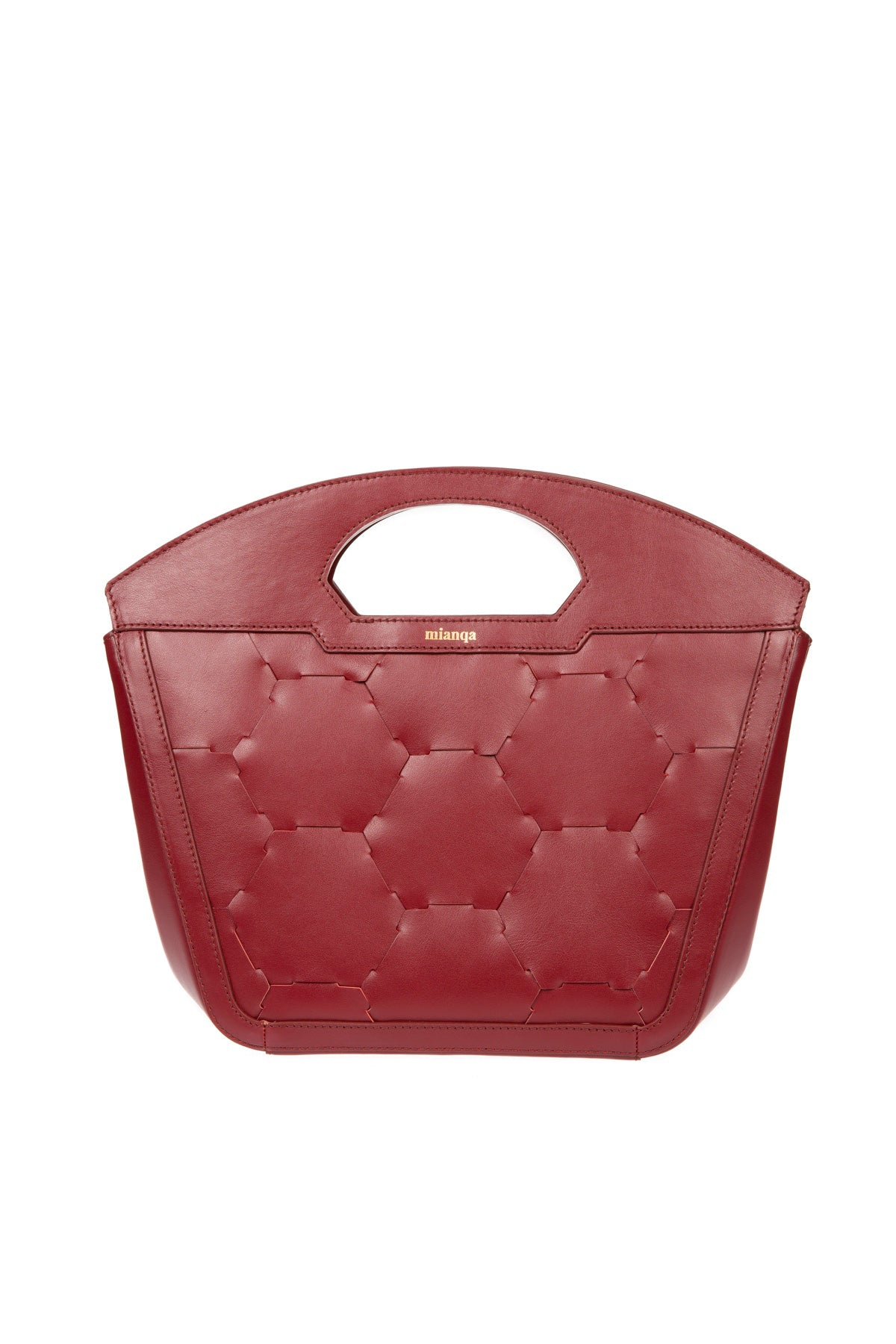 A F I F E | Leather Tote Bag Bordeaux