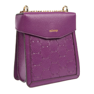 F U R E Y A | Leather Crossbody Bag Purple