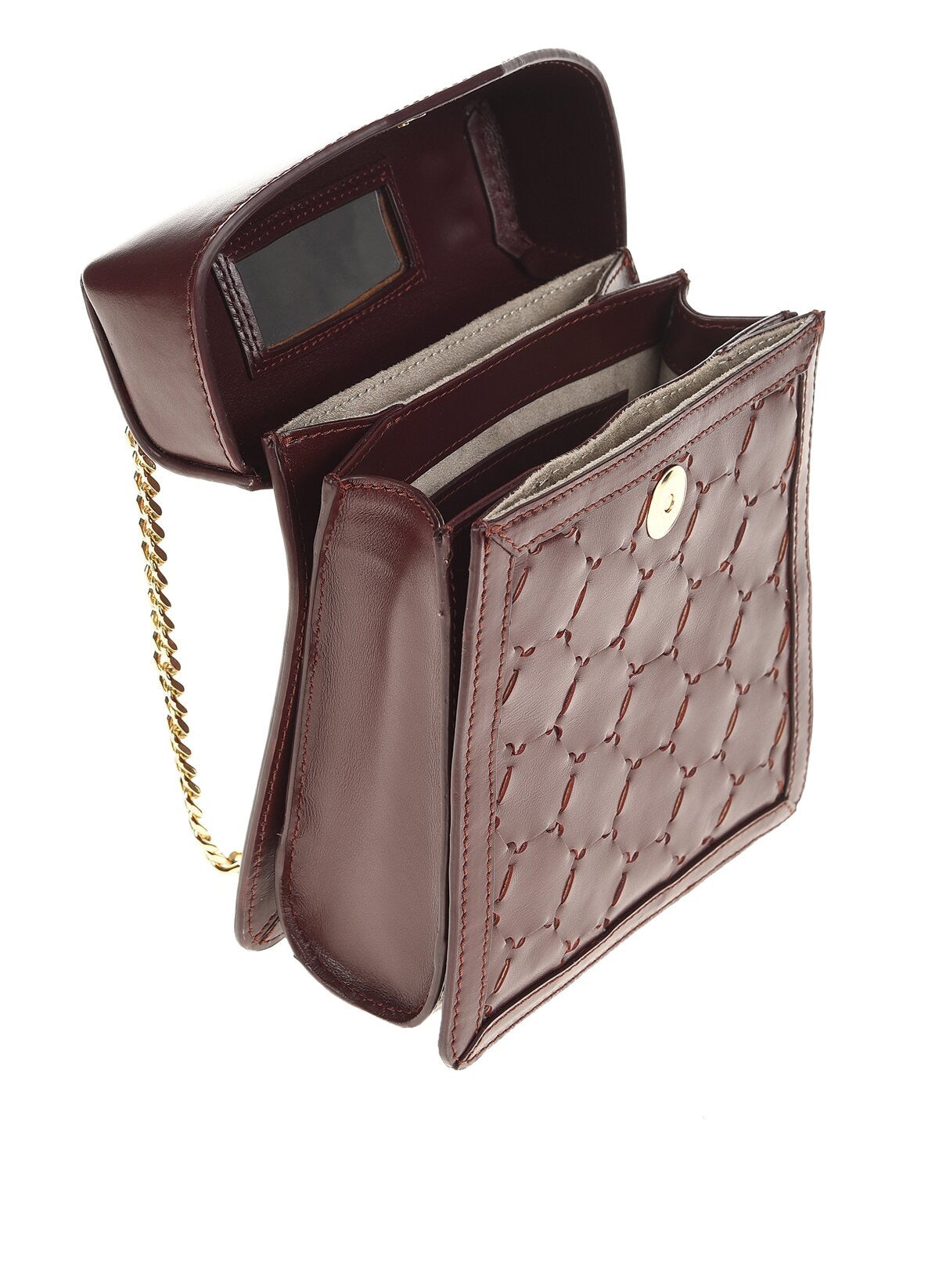 F U R E Y A | Leather Crossbody Bag Bordeaux