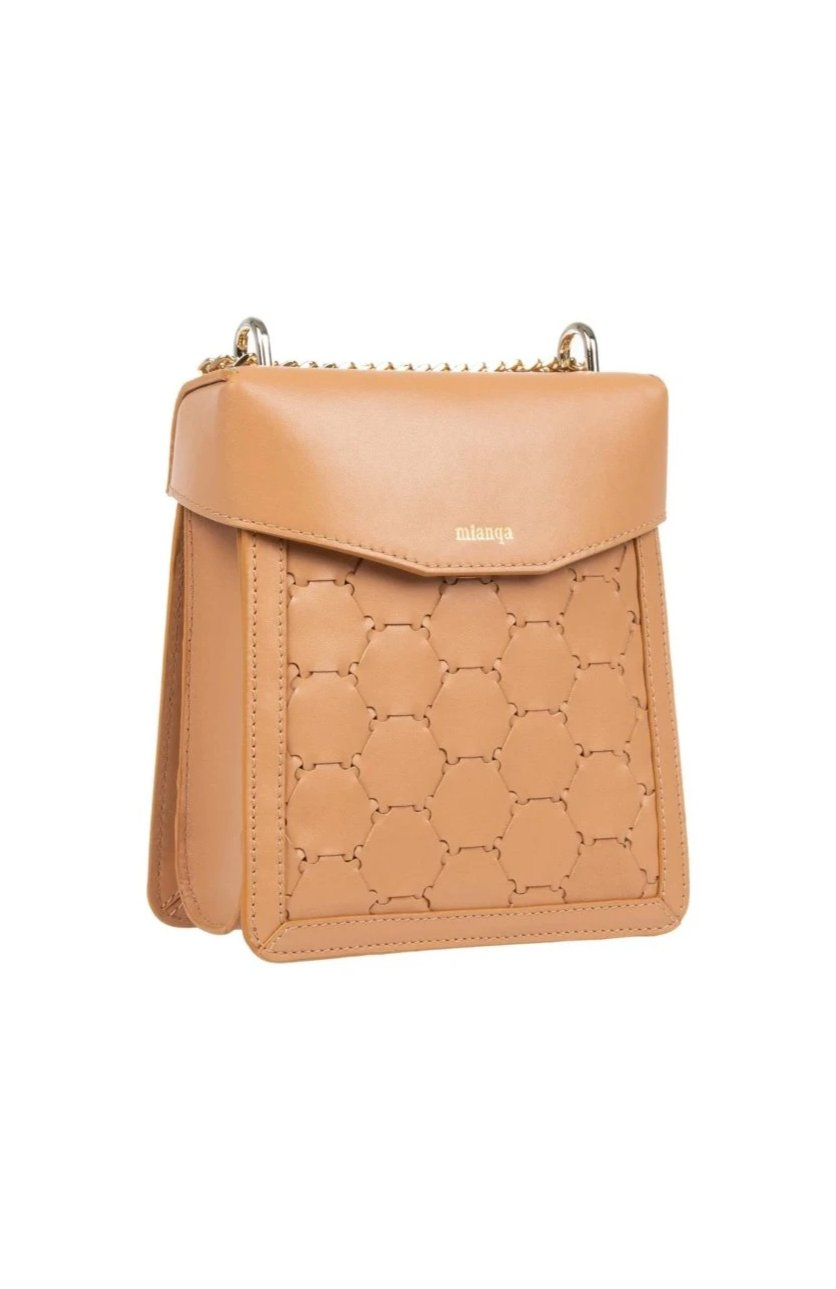 F U R E Y A | Leather Crossbody Bag Camel