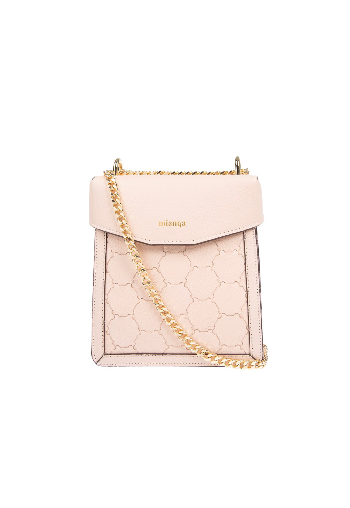 F U R E Y A | Leather Crossbody Bag Dust Pink