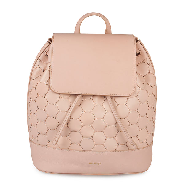 Leather Backpack | Dust Pink
