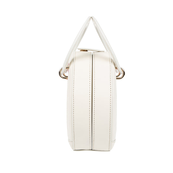 H A L I D E | Leather Circle Crossbody Bag White