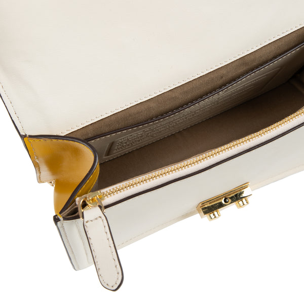 M U A L L A | Leather Shoulder Bag White