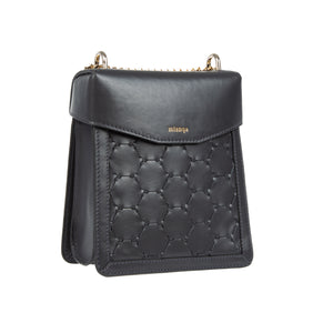 F U R E Y A | Leather Crossbody Bag Black