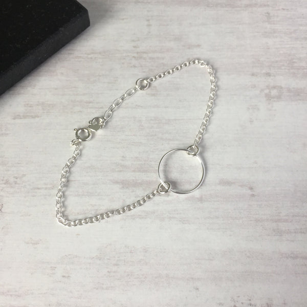Silver Circle Chain Bracelet - KookyTwo