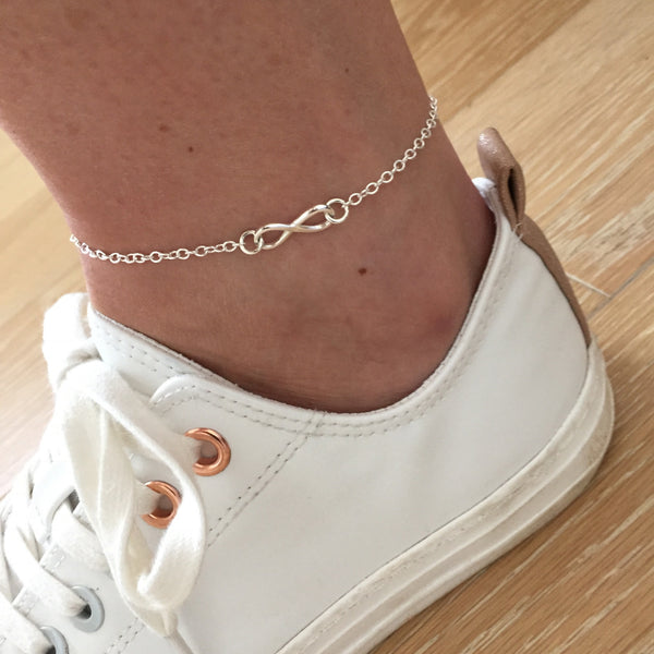 Silver Infinity Chain Anklet