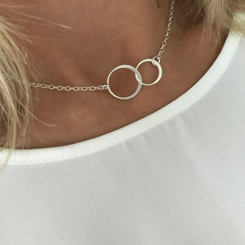 Silver Eternity Necklace - KookyTwo