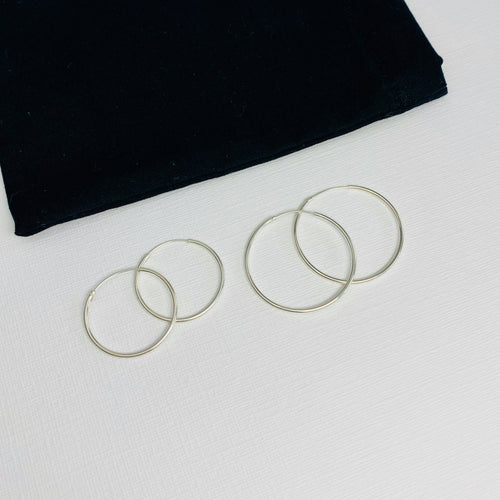 on trend plain hoop earrings