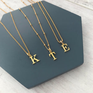 Gold Initial Necklace Set - KookyTwo