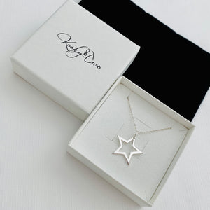 Silver Open Star Necklace - KookyTwo