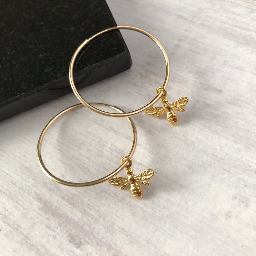 Gold Bee Earrings - KookyTwo