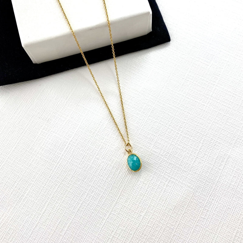 Gold Amazonite Necklace - KookyTwo