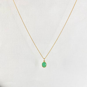 Gold Chrysoprase Necklace - KookyTwo