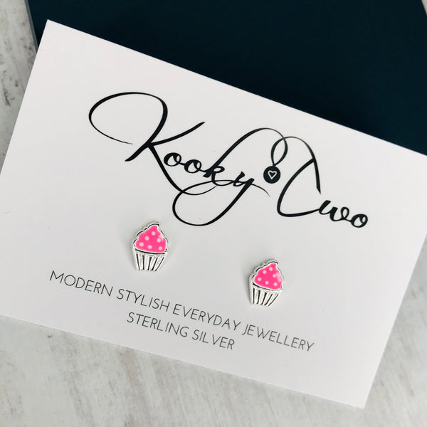 Cupcake Stud Earrings - KookyTwo