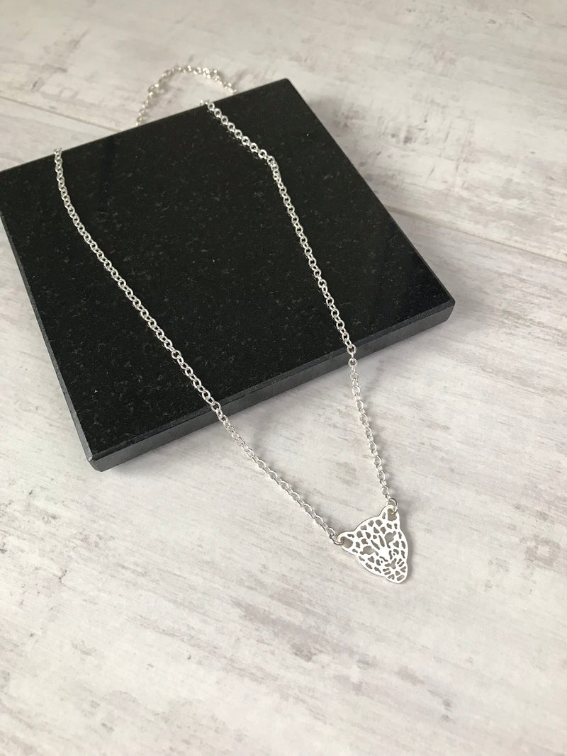 Silver Leopard Necklace - KookyTwo