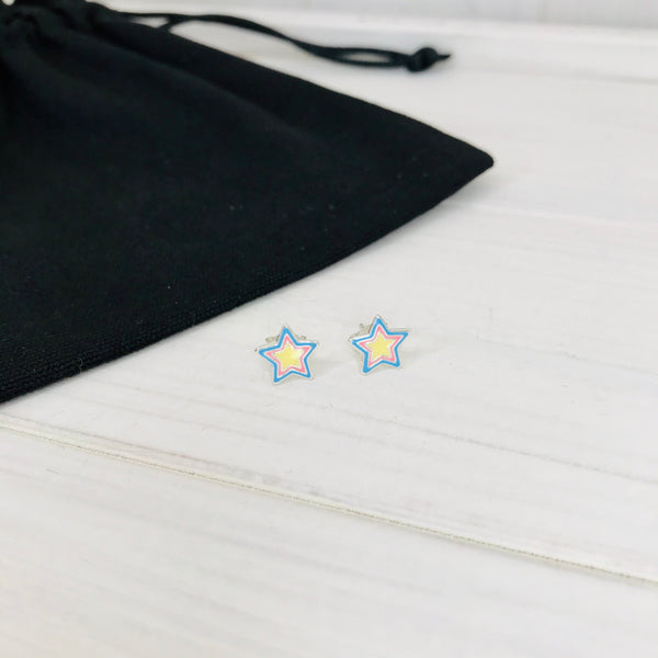 Colourful Star Stud Earrings - KookyTwo