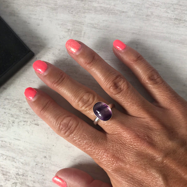 Fluorite Gemstone Ring