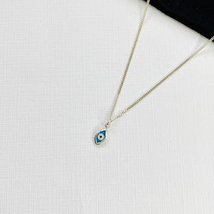 Silver Evil Eye Necklace - KookyTwo