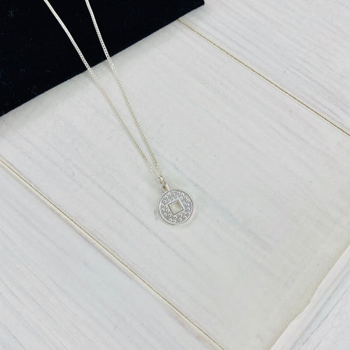 Silver Coin Necklace - KookyTwo