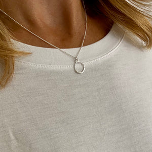 Silver Circle Necklace - KookyTwo