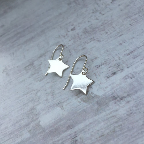 Silver Star Earrings - KookyTwo