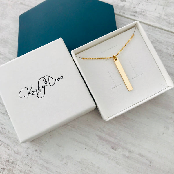 Gold Bar Necklace - KookyTwo