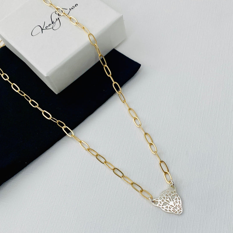 THE ALICE | Gold & Silver Leopard Necklace