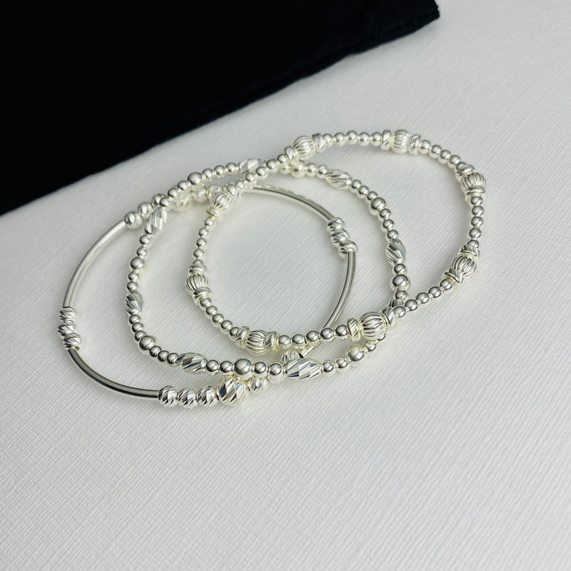 Luxe Silver Bracelet Stack