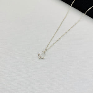 Silver Anchor Necklace - KookyTwo