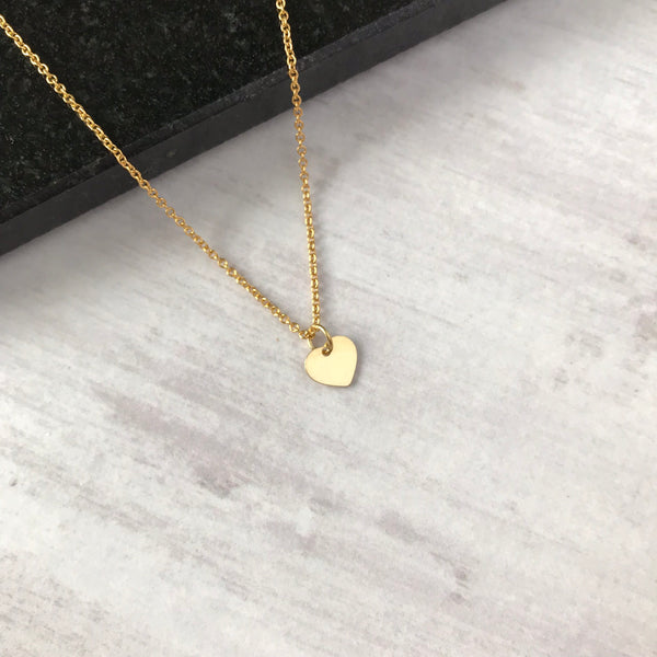 Gold Heart Necklace - KookyTwo