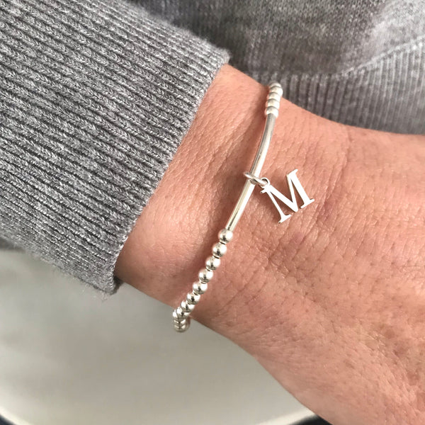 Silver Initial Charm Bracelet - KookyTwo