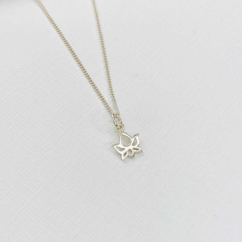 Silver Lotus Flower Necklace - KookyTwo