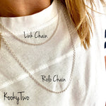 Silver Link Necklace Chain