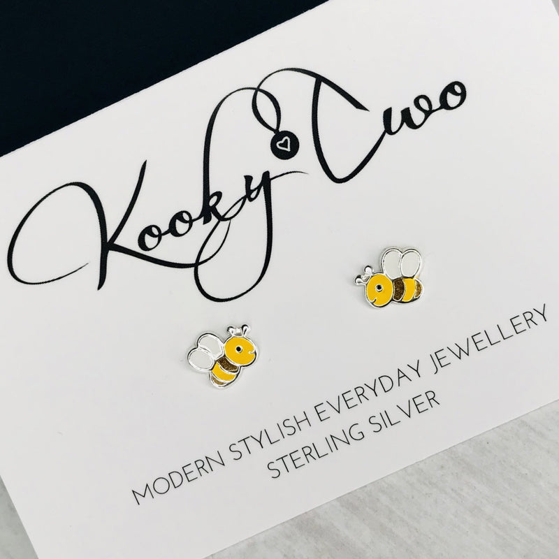 Childrens Bee Stud Earrings - KookyTwo