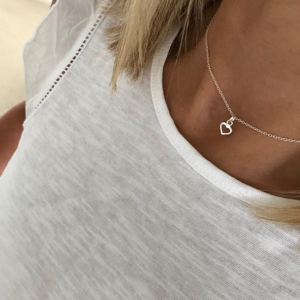 Silver Heart Necklace - KookyTwo