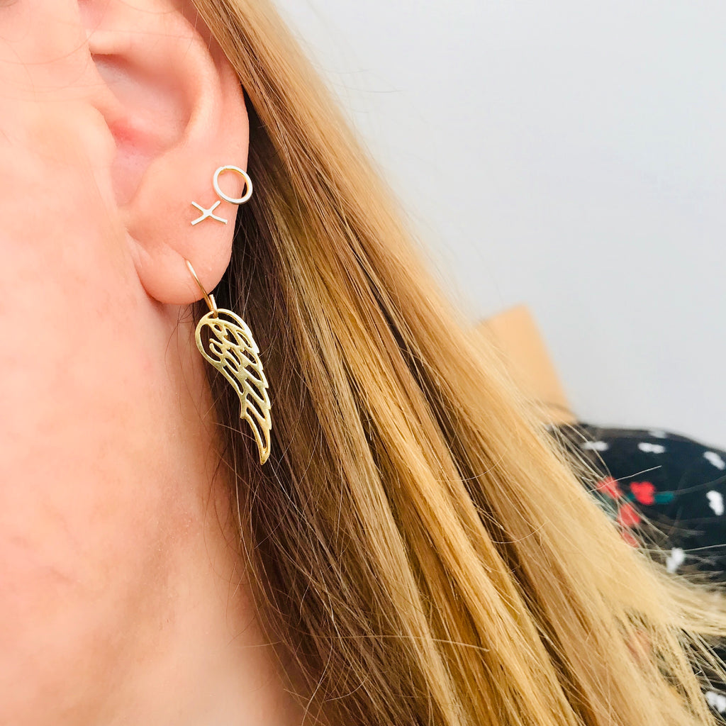 Gold Wing Earrings - KookyTwo