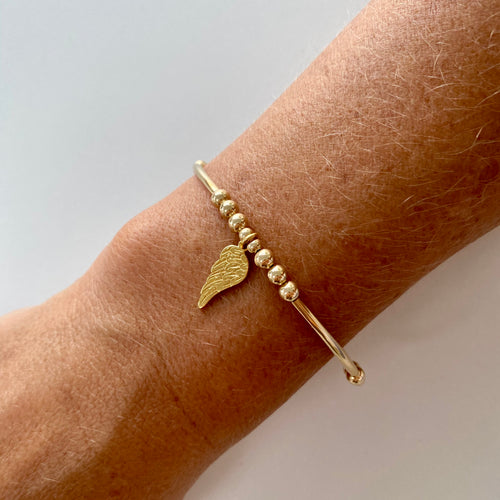 Gold Angel Wing Bracelet