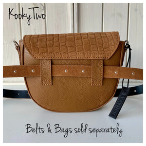 Tan Suede Leather Belt - KookyTwo