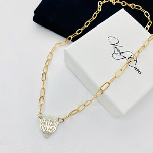 """The Alice"" Gold & Silver Leopard Necklace"