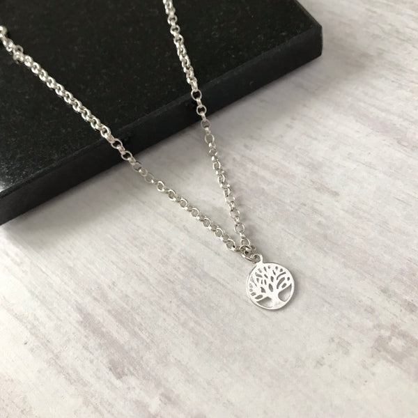 Silver Tree of Life Charm Anklet